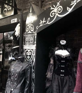 camden market, cyber clothing store and cyberdog