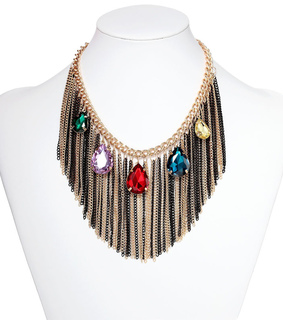 bib necklace, chunky neclace and crystal necklace