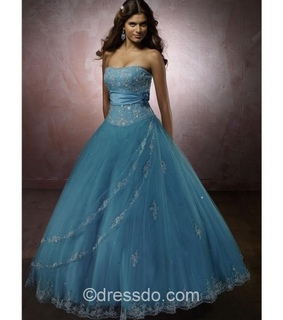 ball gown, beautiful dress and blue