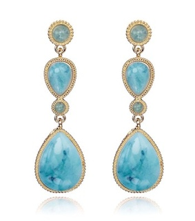 14k gold plated drop earrings, beautiful and fashion
