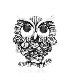 antique silver owl rings, fashion and owl statement rings