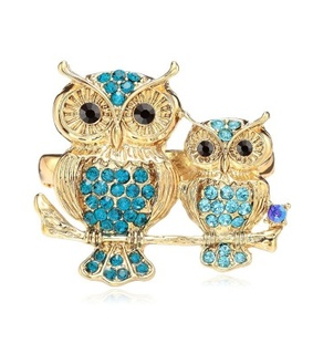 fashion, gold owl two finger rings and owl rings