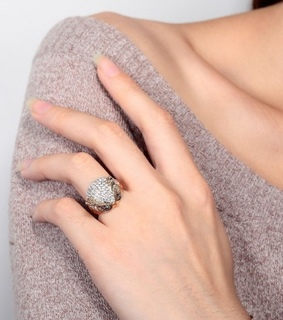18k gold owl ring, antique owl ring and beautiful