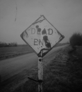 b&w, black and white and dead end