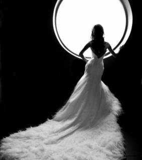 black and white, dress and feather dress