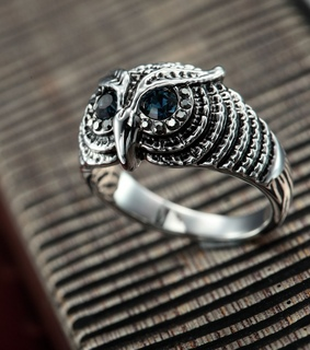 antique owl rings, crystal owl rings and fashion