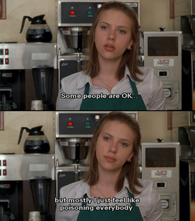 coffee shop, funny and ghost world