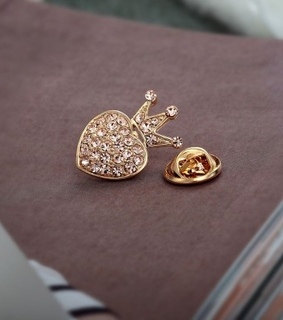 crown lapel brooches, crown lapel pins and crown pin brooches