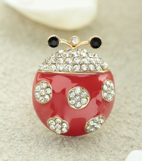 gold ladybug rings, gold statement rings and ladybug statement rings