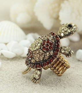 cocktail turtle rings, gold turtle rings and pave turtle rings
