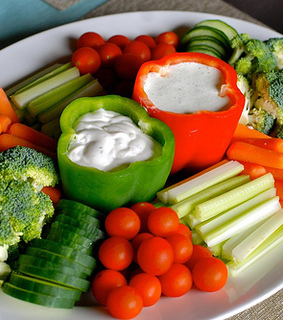 broccoli, carrot and cucumber