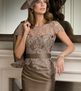 dress, lace and mother of the bride dress