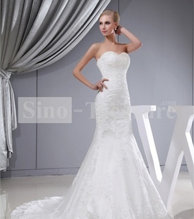 beach wedding dress, beautiful wedding dress and chiffon wedding dress