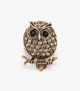 antique owl ring, chunky owl ring and cocktail owl ring