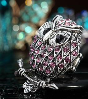 antique, antique owl ring and chic
