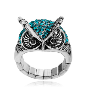 animal, antique owl ring and cocktail owl ring