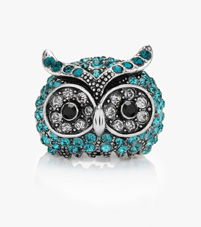 chunky owl rings, cool and cute
