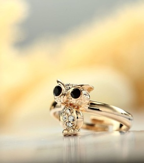 animal rings, fashion owl rings and gold owl rings