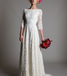 lace wedding dresses, vintage wedding dresses and Half Sleeves Wedding Dresses