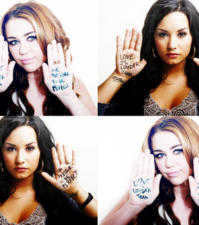 demi lovato, diley and miley cyrus