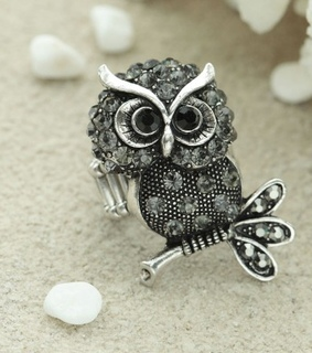 owl rings,  statement rings and  owl statement ring