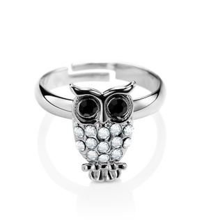 adjustable rings, animal rings and fashion owl rings