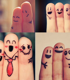 fingers, friends and happy friendship day
