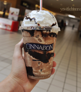cinnabon, delicious and milkshake