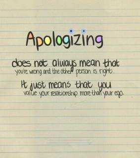 apologizing, friends and impatient