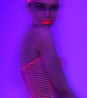 black light, editorial and modeling
