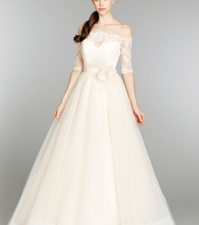 a-line wedding dresses, Off Shoulder Wedding Dresses and Wedding Dresses with Lace Sleeves