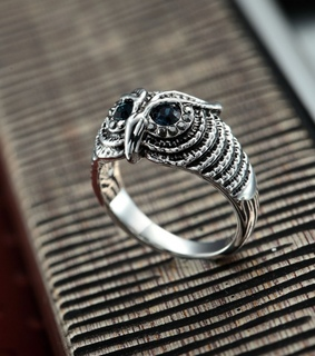 antique owl rings, cool and fashion
