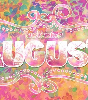 august, colors and welcome august
