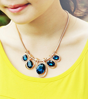 beauty, bib necklace and blue