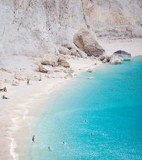 beach, greece and island