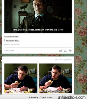 funny, hannibal lecter and supernatural