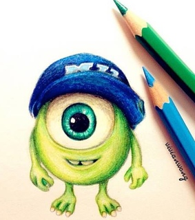 art, colored pencil and cute