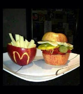 apple, food and funny