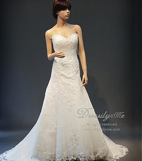 tulle wedding dress and Lace Appliques Wedding Dress