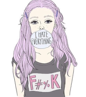 bubblegum bitch, hipster and i hate everything