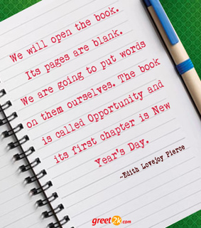 new year quotes, quotations and edith lovejoy pierce quotes