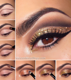 glitter makeup, instructions and tutorial
