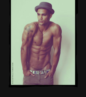 beautiful man, brown and dark skin