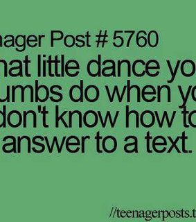 dance, reply and text