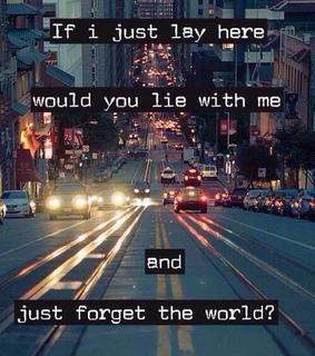 chasing cars, city and lay with me