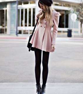 baby pink, black and blonde