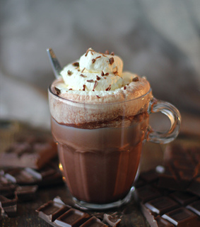 chocolate, coffee and drink