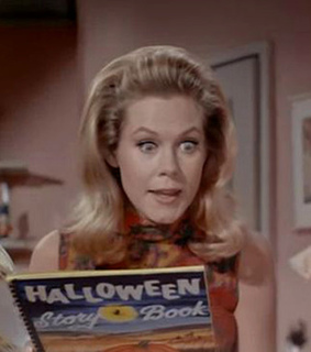 bewitched, elizabeth montgomery and halloween
