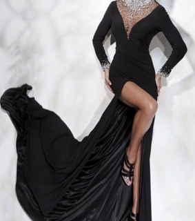 ball dress, black and black prom dress