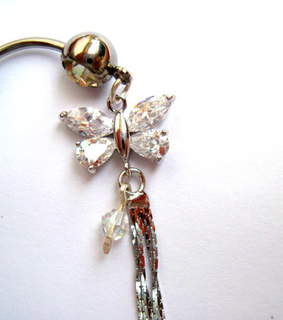 belly, bellyring and butterfly